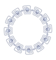 round frame - silver chain on white background vector image vector image