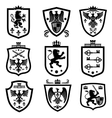 royal shields nobility heraldry coat arms vector image