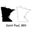 saint paul minnesota mn state border usa map vector image vector image