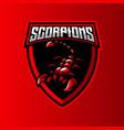 scorpion mascot logo vector image
