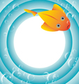 sea frame with fish and bubbles vector image vector image