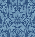 Seamless blue abstract striped floral pattern vector image
