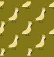 seamless pattern of gold parrot vector image vector image