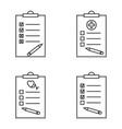 set checklist vector image