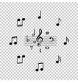 set of black music notes icon isolated on vector image vector image