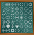 set of gears on a greenboard image vector image