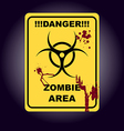 Sign of infected area vector image vector image