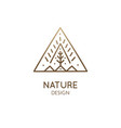simple triangle logo nature vector image vector image