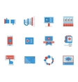 Social media flat color icons vector image vector image