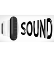 Sound sign vector image