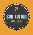 Sun Lotion Design vector image vector image