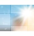 Sunlight background vector image