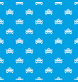 taxi car pattern seamless blue vector image vector image