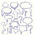 The cloud of thoughts conversation in the comics vector image vector image