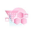 trendy gradient geometric forms in pink colors vector image vector image