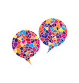two speech bubble sign stained glass icon vector image