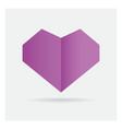 valentine love gay purple heart paper craft vector image vector image