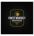 whiskey logo dark label design background vector image