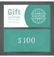 Yoga Studio Gift Certificate Template vector image