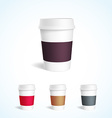 coffee cup white mockup 3d vector image