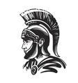 Roman centurion soldier Sketch vector image