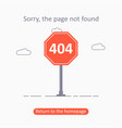 404 error page not found template with traffic vector image vector image