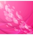 Abstract pink background with falling petals vector image