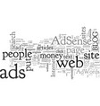 adsense adwords pay per click services the vector image vector image