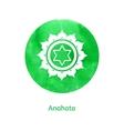 Anahata chakra vector image