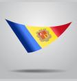 andorran flag background vector image vector image
