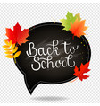 autumn poster with school board transparent vector image vector image