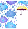 background for text with a yellow umbrella vector image vector image