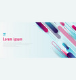banner web design template dynamic blue and pink vector image vector image