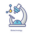 biotechnology gray color icon biotech molecular vector image vector image