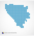bosnia and herzegovina map and flag icon vector image