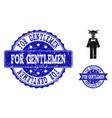 bull gentleman textured icon and seals vector image