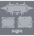 calligraphy set frames grey vector image vector image