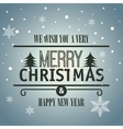card merry christmas with tree graphic vector image