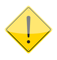 Caution Sign vector image vector image