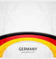 celebrating germany independence day vector image vector image