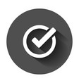 check mark icon in flat style ok accept with long vector image vector image