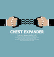 Chest Expander Fitness Equipment vector image