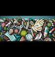 coronavirus hand drawn doodle banner cartoon vector image