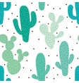 cute seamless cactus pattern background vector image