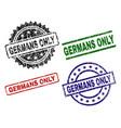 damaged textured germans only stamp seals vector image vector image