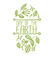 Day of the Earth Banner vector image vector image