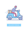 delivery person - modern line design style icon vector image