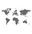 detailed world map divided into continents and vector image vector image