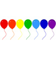 Festive balloons vector image vector image