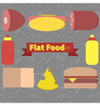 flat food vector image